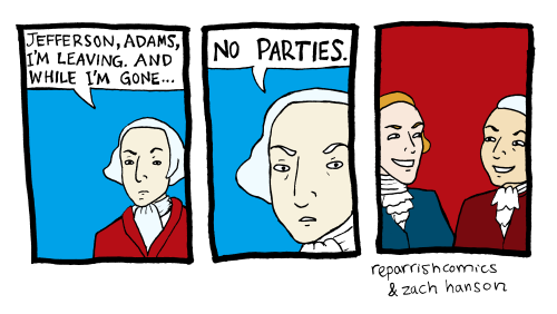 Washington, Adams, Jefferson